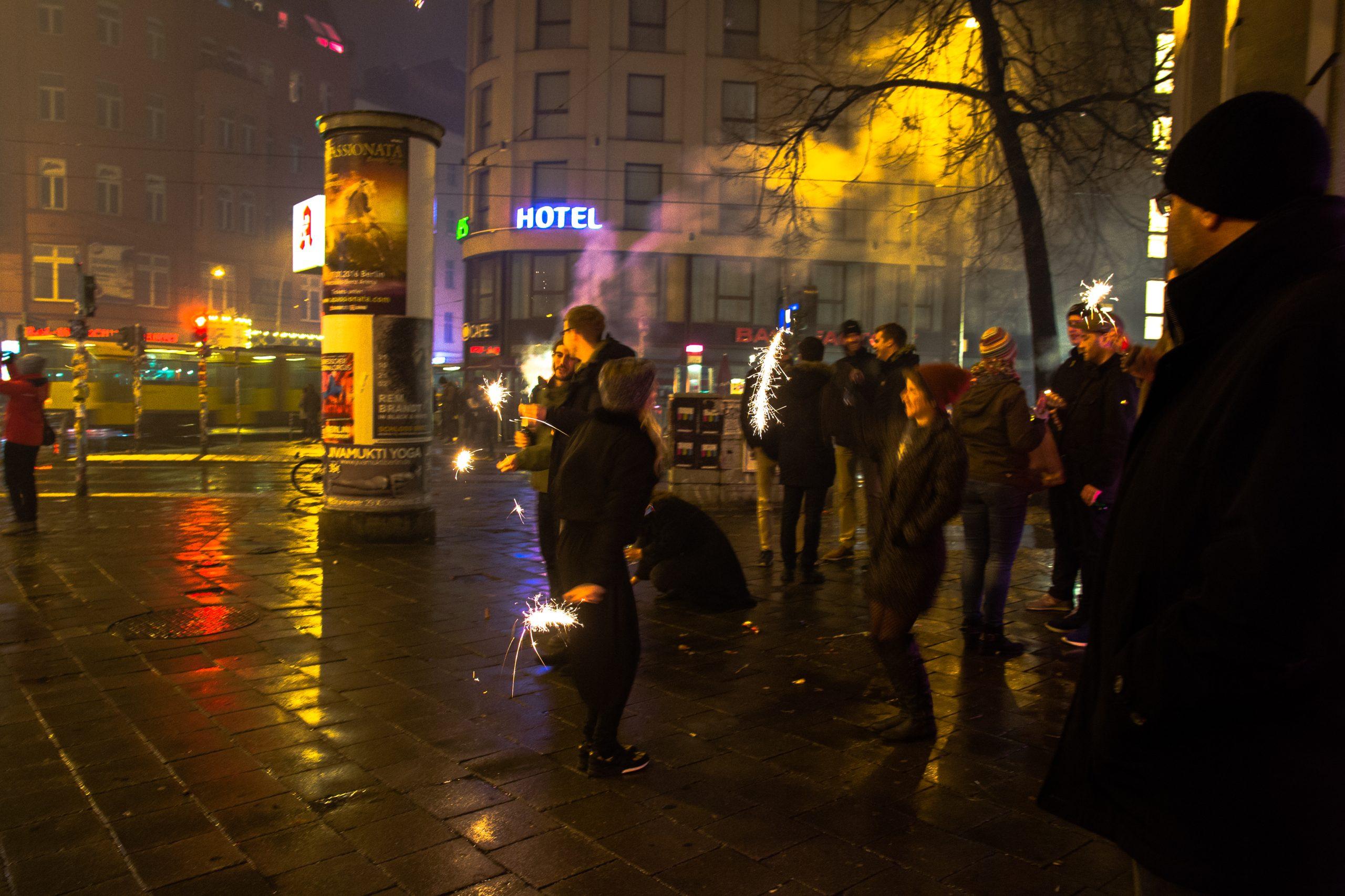 pétards et feus d'artifices au nouvel an