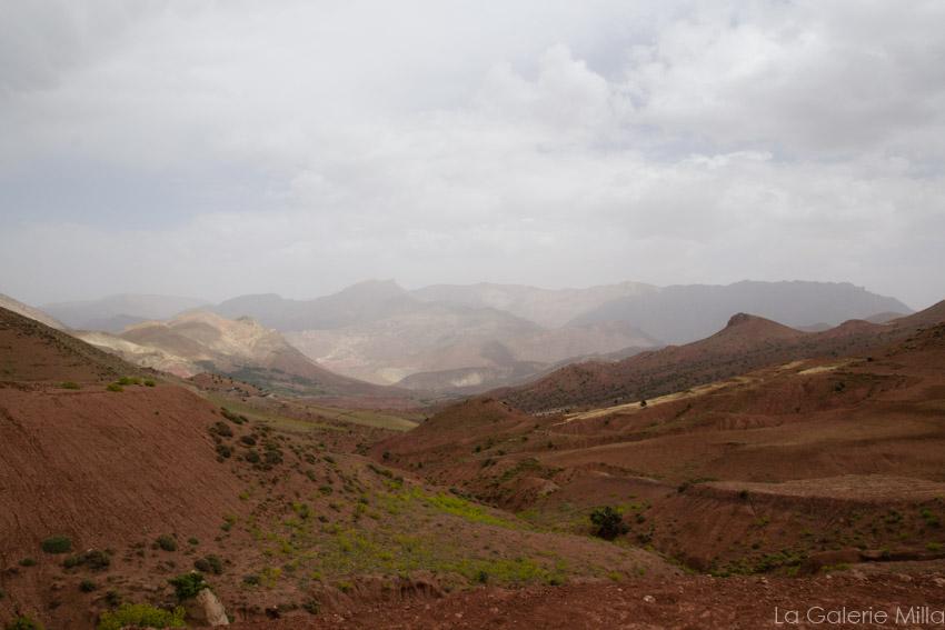 vue montagnes rouges