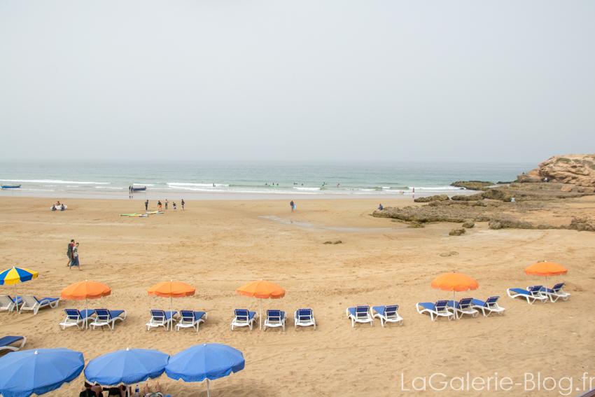 transats sur la plage de taghazout