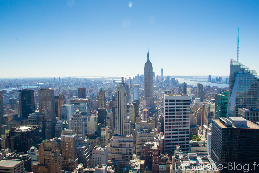vue de new york depuis letop of the rock