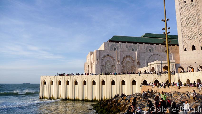 mosquée hassan II avec vue sur la mer