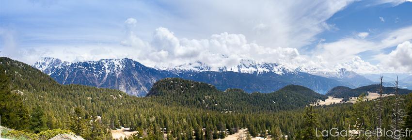 panorama de la chaine de montagnes