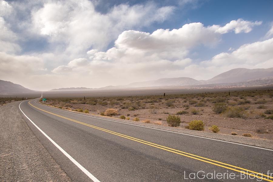 route dans le desert