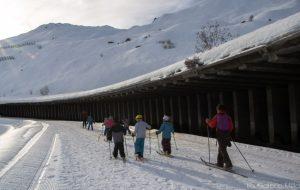 enfants en ski de fond à tignes
