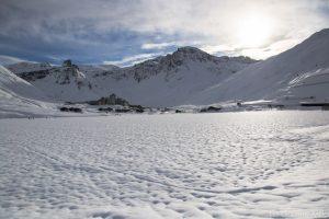 neige sur le lac