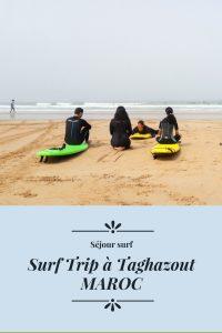 Séjour de surf au maroc dans la ville de taghazout