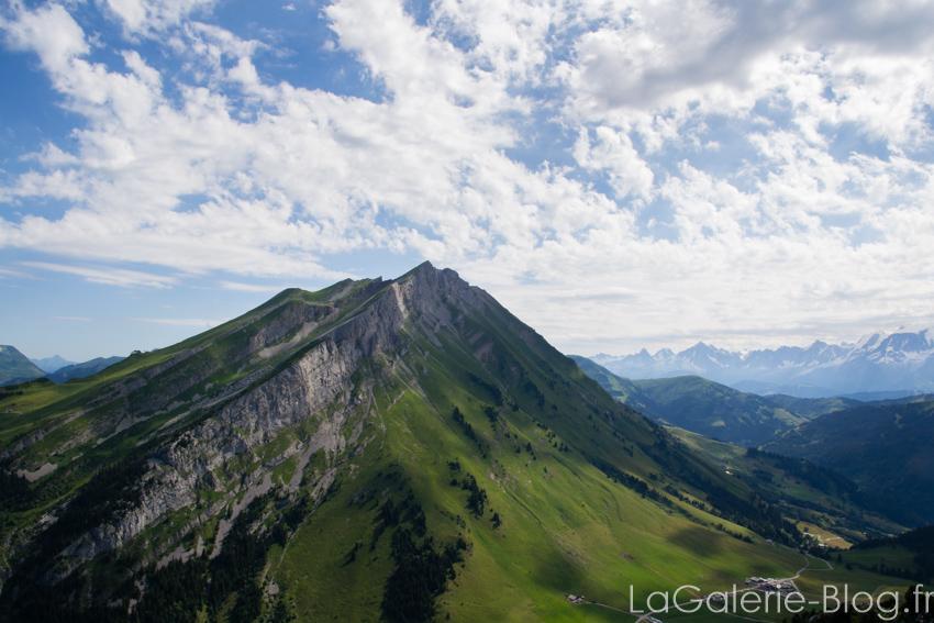 Vue panoramique du belvedere de l'étale à la clusaz