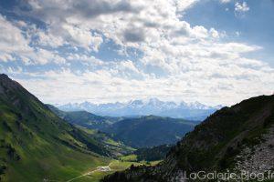 paysage de randonnée du belvedere