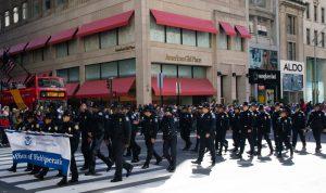 parade de policiers