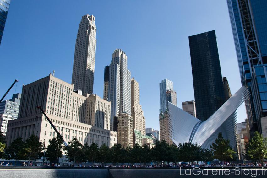 vue du memorial et financial district