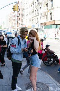 un photographe et son modèle à newyork