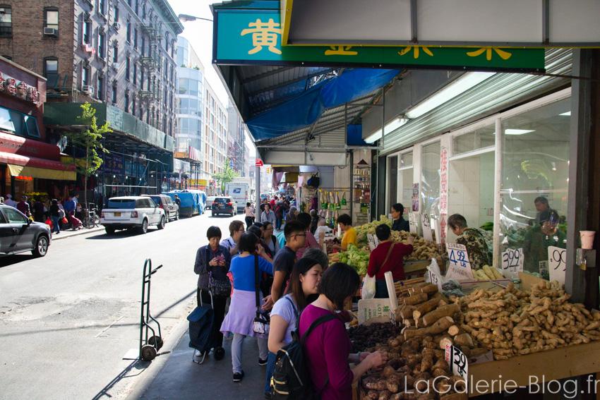 stands de legumes chinois à chinatown