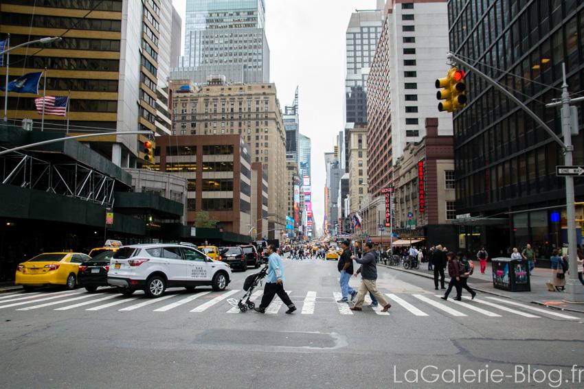 vue d'une rue à New York