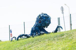 statue de poulpe géant !