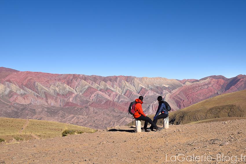 panorama du mont hornocal, la montagne aux 7 couleurs, humahuaca