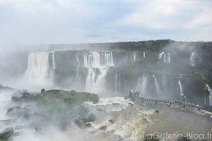 panorama des cascacdes d'iguazu cté argentin