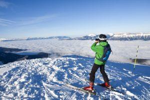 photographe en skis