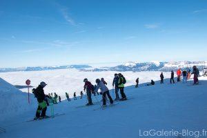 skieurs sur la piste