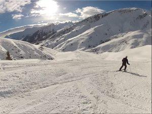 skieur isolé