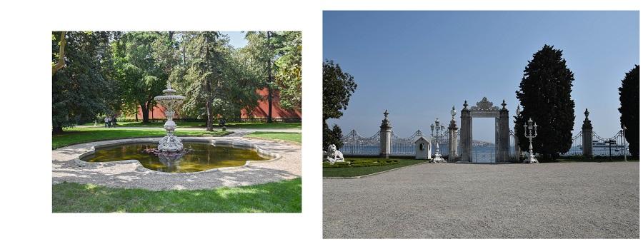 jardin du palais dolmabace istanbul
