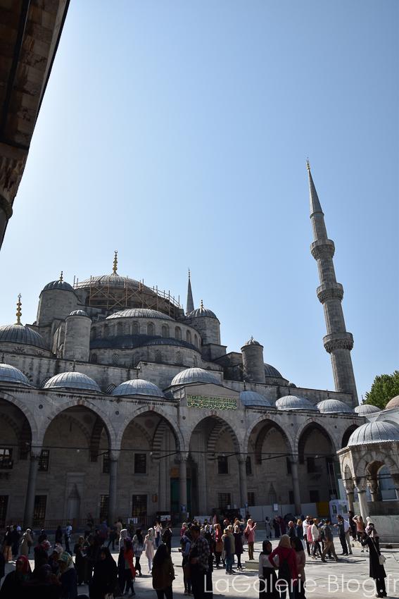 mosquée bleue en travaux