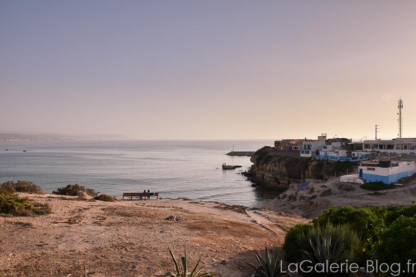 plage Imsouane au coucher de soleil