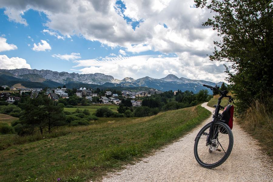 vélo sur la via vercors